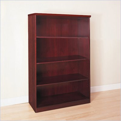 Mayline Luminary 68&quot; H 4 Shelf Wood Bookcase in Cherry