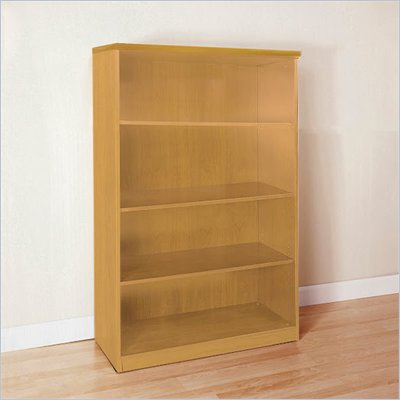 Mayline Luminary 68&quot; 4-Shelf Wood Bookcase in Maple