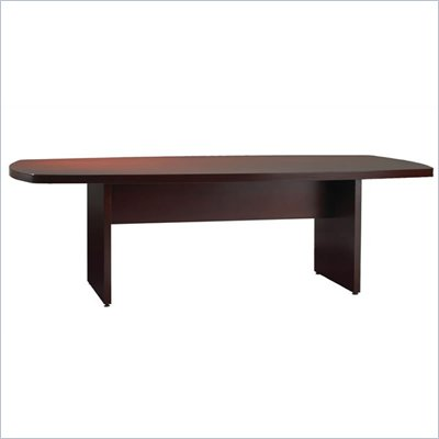 Mayline Luminary Curved End 6' Conference Table with Curved Base