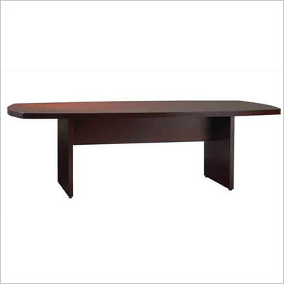 Mayline Luminary Curved End 10' Conference Table with Slab Base