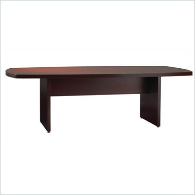 Mayline Luminary 8' Curved End Conference Table with Slab Base