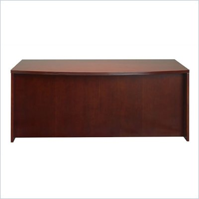 Mayline Luminary Bow Front Wood Desk in Cherry Finish