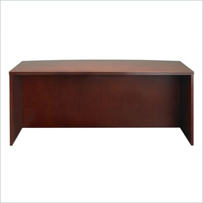 Mayline Luminary Straight Front Wood Credenza Desk in Cherry Finish