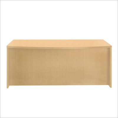 Mayline Luminary Straight Front Wood Credenza Desk in Maple Finish