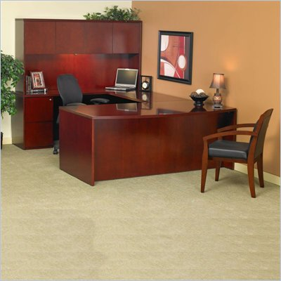 Mayline Luminary 72&quot; Wood U-Shaped Desk Set