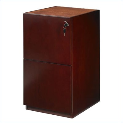 Mayline Luminary 2 Drawer Vertical Wood File Pedestal for 30&quot; Desk