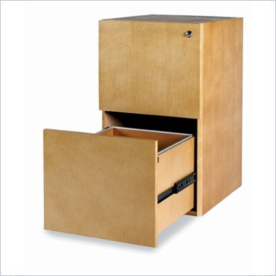 "Mayline Luminary 2 Drawer Vertical Wood File Pedestal for 30"" Desk"