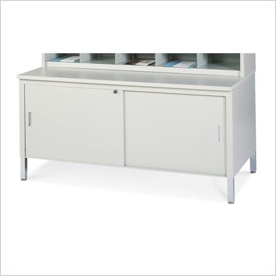 Mayline Mailflow Systems 48&quot; W Storage Table w/ Doors, Lock &amp; Shelf and High Pressure Laminate