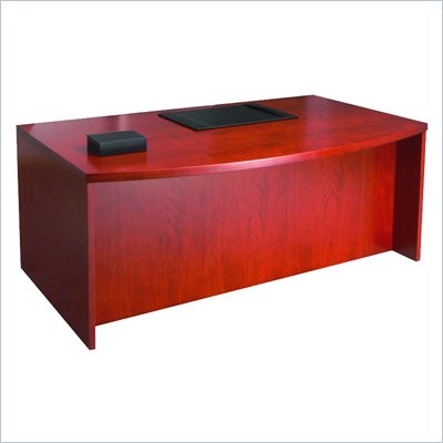 Mayline Mira 72&quot; Bow Front Wood Desk