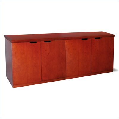 "Mayline Mira 72"" Hinged Door Credenza in Medium Cherry"