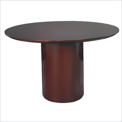 Mayline Napoli 48&quot; Round Conference Table with Cylinder Base