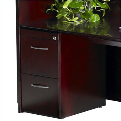 Mayline Napoli 2 Drawer Vertical Wood File Pedestal
