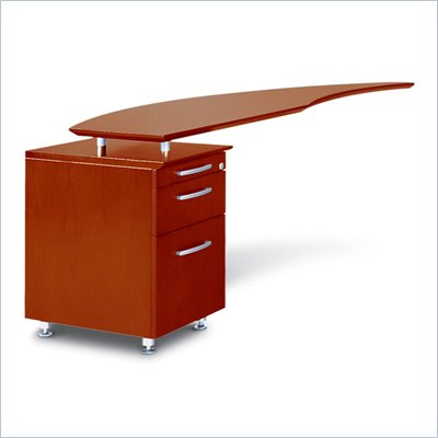 Mayline Napoli Curved Desk Left Return with Pedestal