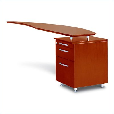 Mayline Napoli Curved Desk Right  Return with Pedestal