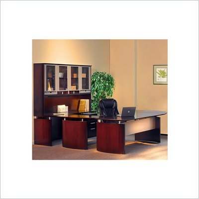 "Mayline Napoli 72"" Wood Right Hand U-Shaped Desk"