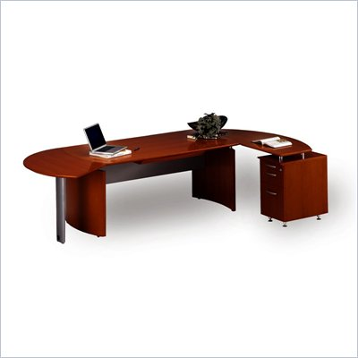 "Mayline Napoli 72"" Wood L-Shaped Desk"