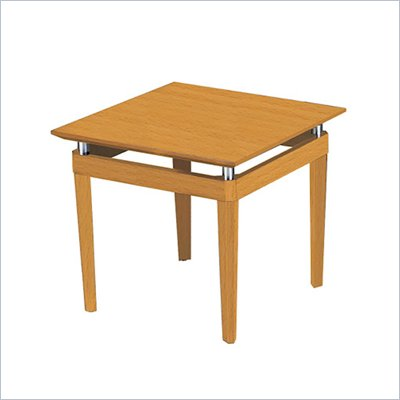 Mayline Napoli Square End Table in Golden Cherry