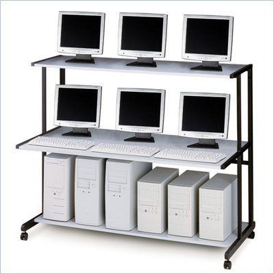 Mayline NetStart LAN Support Station - 60&quot; LAN Station (actual width 62&quot;)