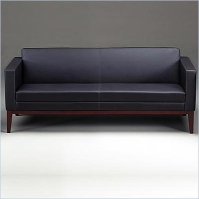 Mayline Prestige Series Black Leather Sofa