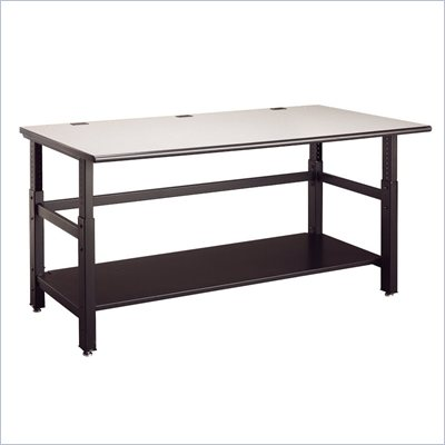 Mayline Techworks 60 x 30 Adjustable Table in Textured Black Paint