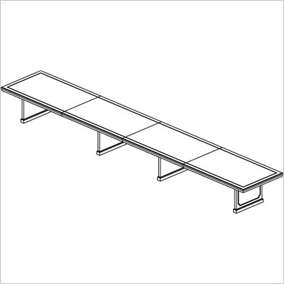 Mayline Toscana 26' Rectangular Conference Table