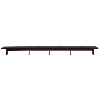 Mayline Toscana 30' Rectangular Conference Table in Mahogany