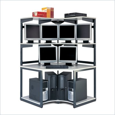 Mayline eLAN Computer Racking System - 48&quot; Corner Station