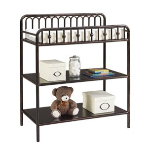 Little Seeds Monarch Hill Ivy Metal Changing Table in Bro...