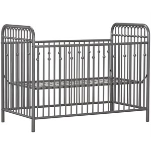Little Seeds Monarch Hill Ivy Metal Adjustable Crib in Gr...