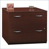 Bush Series C 2 Drawer Lateral Wood File Storage Cabinet in Mahogany