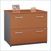 Bush Series C 2 Drawer Lateral Wood File Storage Cabinet in Auburn Maple