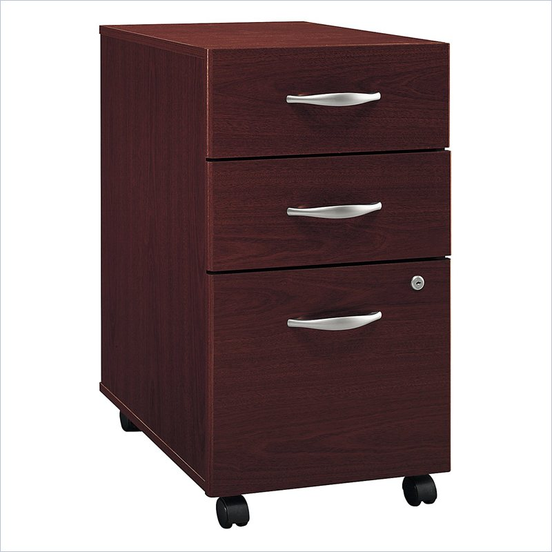 Bush BBF Series C 3Dwr Mobile Pedestal in Mahogany WC