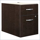 Bush Series C 2 Drawer Lateral Wood File Cabinet in Mocha Cherry
