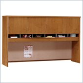 Bush Series C 71 Four Door Wood Hutch in Natural Cherry