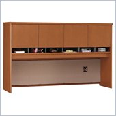 Bush Series C 71 Four Door Wood Computer Hutch in Auburn Maple