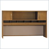 Bush Series C 71 2 Door Wood Hutch in Natural Cherry
