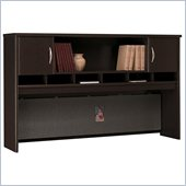 Bush Series C 71 2 Door Wood Hutch in Mocha Cherry