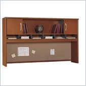 Bush Series C 71 2 Door Wood Hutch in Auburn Maple