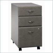 Bush Series A 3 Drawer Vertical Mobile Filing Storage Cabinet in White Spectrum and Pewter