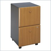 Bush Series A 2 Drawer Vertical Mobile File Cabinet in Natural Cherry