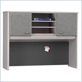Bush White Spectrum and Pewter Advantage Series A 48 inch Hutch