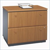 Bush Series A 2 Drawer Lateral Wood File Cabinet in Natural Cherry