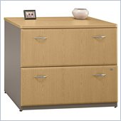 Bush Series A 2 Drawer Lateral Wood File Storage Cabinet in Light Oak