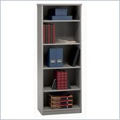 Bush White Spectrum and Pewter Advantage Series A 5 Shelf Bookcase