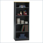 Bush Beech and Grey  Advantage Series A 5 Shelf Bookcase