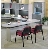 Bush White Spectrum and Pewter Advantage Series Office Suite