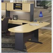 Bush Advantage Series Left L-Shape Office Suite in Beech and Grey