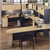 Bush Series A U-Shape Office Suite in Beech and Grey
