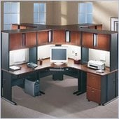 Bush A-Series Cubicle Office Set in Hansen Cherry