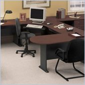 Bush Series A Hansen Cherry U-Shape Office Suite